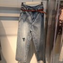 Jeans Autumn 2020 blue S,M,L,XL trousers High waist Haren pants routine 18-24 years old washing Cotton denim light colour A1HAA330455 Peacebird 96% and above