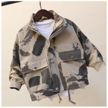 Windbreaker Camouflage coat in spring and autumn, camouflage coat thickened with velvet and cotton 100cm,110cm,120cm,130cm,140cm,150cm,160cm Other / other male spring and autumn Korean version Zipper shirt have cash less than that is registered in the accounts other other No belt