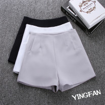 Casual pants Grey, white, black, safety Pants White S,M,L,XL,2XL,3XL Summer 2020 shorts Wide leg pants High waist commute routine 18-24 years old 51% (inclusive) - 70% (inclusive) 8031# Other / other cotton Korean version pocket