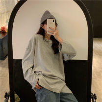 Women's large Autumn 2020 Gray, white, camel, black Large L, large XL, m, 2XL, 3XL, 4XL commute easy Long sleeves Korean version Crew neck Medium length other routine Other / other 18-24 years old 51% (inclusive) - 70% (inclusive)