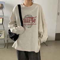 Women's large Autumn 2020 Large L, large XL, m, 2XL, 3XL, 4XL singleton  easy Socket Long sleeves letter Crew neck Medium length routine 18-24 years old 30% and below