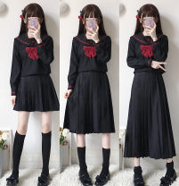 student uniforms Summer 2020, spring 2020 S,M,L,XL,XXL Short sleeve solar system skirt 18-25 years old Xiaojin polyester 31% (inclusive) - 50% (inclusive)