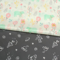 Fabric / fabric / handmade DIY fabric Others White forest, half meter price, black star wars, half meter price Loose shear printing and dyeing