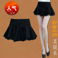 skirt Summer of 2018 S,M,L,XL Short skirt Versatile High waist Fluffy skirt Solid color Type A 18-24 years old Other / other cotton Stitching, lace