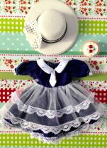 BJD doll zone Dress 1/6 Over 14 years old goods in stock 6 points, 4 points, big baby, little cloth Blythe Skirt + hat, hairpin + socks