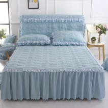 Bed skirt Others Island blue, Princess Pink, orchid purple, light brown gray, light golden camel, light jade Shore love Solid color Qualified products