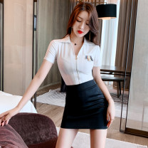 Hotel uniform Summer 2020 White, gray blue S,M,L,XL,XXL,XXXL MT1319 25-35 years old 96% and above