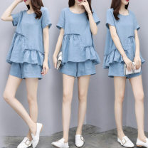 Fashion suit Summer of 2018 S,M,L,XL,XXL,XXXL sky blue 25-35 years old Other / other