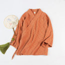 jacket Summer of 2019 The small bust can be adjusted to 90-100cm, the large bust can be adjusted to 100-110cm, the pants are all elastic waist Golden orange top with pants, complete set (top + pants)