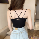 Vest sling Summer 2020 Average size singleton  routine Self cultivation Versatile other Solid color 18-24 years old acrylic fibres Other / other Hollowed out, bare back