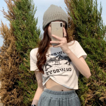 T-shirt Gray, white, black Average size Summer 2021 Short sleeve Crew neck Self cultivation have cash less than that is registered in the accounts routine commute other 30% and below 18-24 years old Korean version other letter printing
