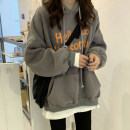 Sweater / sweater Spring 2021 Average size Long sleeves routine Socket singleton  Plush Hood easy commute routine letter 18-24 years old 30% and below Korean version other printing