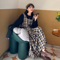 Dress Spring 2021 Average size longuette singleton  Sleeveless commute Loose waist lattice Big swing Others 18-24 years old Type H Korean version 30% and below other other
