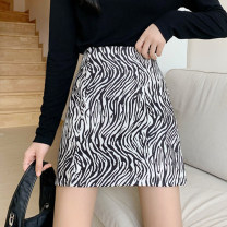 skirt Spring 2021 S,M,L Zebra long, zebra short Short skirt commute High waist A-line skirt Zebra pattern Type A 18-24 years old 30% and below other Other / other other Korean version