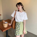 skirt Summer 2021 S. M, average size Purple T-shirt, green T-shirt, purple dress, green dress Short skirt commute High waist A-line skirt other Type A 18-24 years old 30% and below other other Korean version