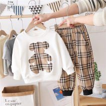 suit Other / other White, black 90cm,100cm,110cm,120cm,130cm,140cm,150cm neutral spring and autumn leisure time Long sleeve + pants 2 pieces routine No model Socket nothing Cartoon animation cotton children Giving presents at school