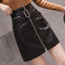 skirt Autumn 2020 S,M,L,XL,2XL black Short skirt grace High waist skirt Solid color Type A 18-24 years old Real shot 8690 81% (inclusive) - 90% (inclusive) PU Three dimensional decoration, zipper, stitching 201g / m ^ 2 (including) - 250G / m ^ 2 (including)