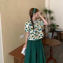 Fashion suit Summer 2021 S,M,L,XL Shirt + skirt, single shirt, single skirt 18-25 years old 96% and above