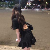 Dress Summer of 2019 Gray, black Average size singleton  Short sleeve