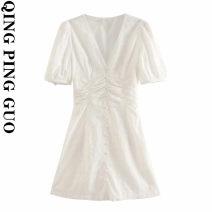 Dress Summer 2020 white XS,S,M,L Short skirt singleton  street Socket 18-24 years old Europe and America