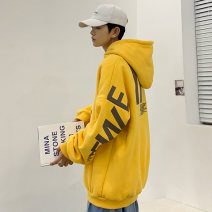 Sweater Youth fashion Others White, black, yellow M,L,XL,2XL,3XL,4XL,5XL other Socket routine Hood autumn easy leisure time youth Youthful vigor Off shoulder sleeve Cotton polyester Cotton 50% polyester 50% printing