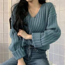 Wool knitwear Autumn 2020 Average size Long sleeves singleton  other 71% (inclusive) - 80% (inclusive) Regular routine commute Korean version