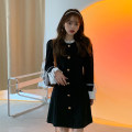 Dress Spring 2021 black Average size Middle-skirt singleton  Long sleeves commute middle-waisted Solid color zipper A-line skirt routine Others 18-24 years old Type A Korean version 51% (inclusive) - 70% (inclusive) other polyester fiber