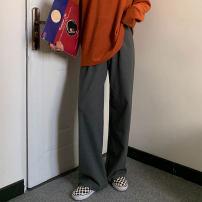 Casual pants Camel, black, light beige, apricot, carbon grey Average size trousers Wide leg pants Versatile routine