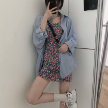 T-shirt Suspender skirt, shirt Average size Spring 2021 Polo collar Regular other 96% and above