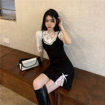 Fashion suit Summer 2021 S. M, average size Suspender skirt, shirt# 18-25 years old 96% and above