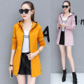 short coat Spring 2020 S,M,L,XL,2XL,3XL Yellow, black, pink Long sleeves Medium length Thin money singleton  Self cultivation other routine Hood zipper Solid color Love and love 81% (inclusive) - 90% (inclusive) Three dimensional decoration, zipper, open line decoration polyester fiber