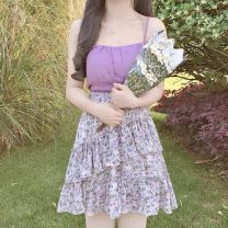 skirt Summer 2021 Average size Short skirt Versatile Natural waist Princess Dress Decor Type A 18-24 years old 91% (inclusive) - 95% (inclusive) Chiffon polyester fiber 101g / m ^ 2 (including) - 120g / m ^ 2 (including)