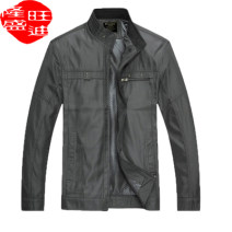 Jacket Other / other Fashion City Purple, light grey, black, dark grey 3XL,M,L,XL,2XL thin standard Other leisure spring CYS139 stand collar Business Casual middle age routine Zipper placket Cloth hem No iron treatment Solid color More than two bags) Side seam pocket polyester fiber