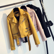 short coat Spring 2021 S,M,L,XL Long sleeves have cash less than that is registered in the accounts routine singleton  Self cultivation commute routine zipper Solid color 81% (inclusive) - 90% (inclusive) Pocket, zipper