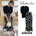 Fashion suit Summer 2020 S,M,L,XL White top, black top, black skirt, purple skirt 18-25 years old 3660#