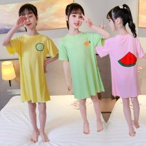Home skirt / Nightgown Other / other Size 110 (recommended height 95-105), Size 120 (recommended height 105-115), Size 130 (recommended height 115-125), size 140 (recommended height 125-135), size 150 (recommended height 135-145), size 160 (recommended height 145-155) Other 100% Green, yellow, pink