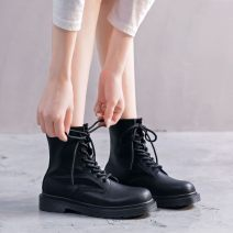 High shoes Artificial short plush Double skin mulching Low heel (1-3cm) Flat heel Round head Other / other Autumn 2020 Frenulum Youth (18-40 years old), children (under 18 years old) Britain TPR (tendon) Adhesive shoes Solid color Artificial short plush Shaving