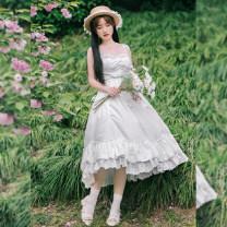 Dress Spring 2021 Pre sale of white tea petticoat S,M,L with puji Q2558