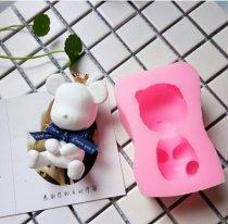 Baking mould Hugging bear silicone mold Sweatshirt bear silicone mold eye covering bear silicone mold Enjoy life