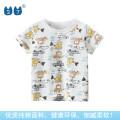 T-shirt Off white, light yellow 27KIDS 90cm,100cm,110cm,120cm,130cm,140cm neutral summer Short sleeve Crew neck Korean version No model Pure cotton (100% cotton content) Cartoon animation Class A other