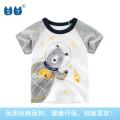 T-shirt grey 27KIDS 110cm,100cm,90cm,140cm,130cm,120cm neutral summer Short sleeve Crew neck Korean version No model Pure cotton (100% cotton content) Cartoon animation Cotton 100% Class A