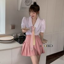 Fashion suit Summer 2021 Average size Color tie, shirt, skirt s, Skirt M, skirt L 18-25 years old