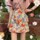 skirt Summer 2021 S,M,L Short skirt commute High waist A-line skirt Decor Type A 18-24 years old 30% and below other other Korean version