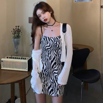 Fashion suit Spring 2021 Average size Suspender skirt, cardigan 18-25 years old