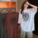 T-shirt White, dark grey, red coffee Average size Spring 2021 Short sleeve Crew neck easy Medium length routine commute other 30% and below 18-24 years old Korean version youth Cartoon, animation, letters printing