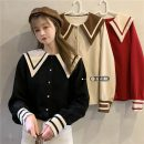 shirt Apricot, red, black Average size Spring 2021 other 30% and below Long sleeves commute Regular Admiral Single row multi button routine Solid color 18-24 years old Straight cylinder Button