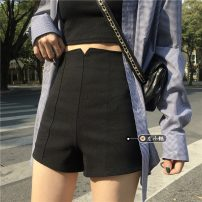 Casual pants Dark blue, gray, white, pink, black S,M,L,XL Summer 2021 shorts Wide leg pants High waist commute routine 18-24 years old 30% and below other Korean version