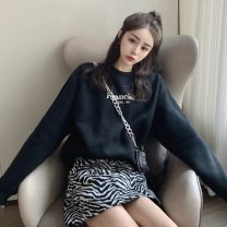 Fashion suit Spring 2021 Average size Black sweater, skirt s, Skirt M, skirt L 18-25 years old Other / other