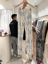 Casual pants Blue, gray, pink S,M,L,XL Summer 2021 trousers Wide leg pants High waist commute Thin money 18-24 years old 51% (inclusive) - 70% (inclusive) other Korean version pocket cotton Asymmetry