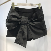 skirt Summer 2021 S,M,L,XL black Mid length dress commute High waist skirt Solid color Type A 18-24 years old 31% (inclusive) - 50% (inclusive) other cotton belt Korean version